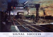 Signal Success. BR (SR) Vintage Travel Poster by Terence Cuneo. c1960